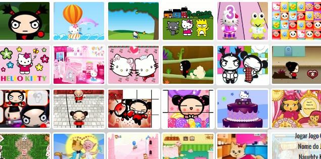 Jogos Da Pucca E Hello Kitty